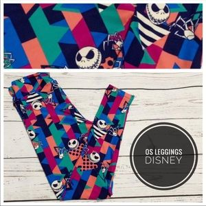 LuLaRoe Pants - OS Nightmare before Christmas Jack leggings